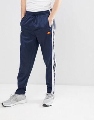 ellesse Straight Jogger With Popper Detail In Navy