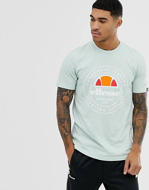 ellesse Vettorio t-shirt with stamp logo in green