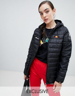 Ellesse Zip Front Padded Jacket With Hood
