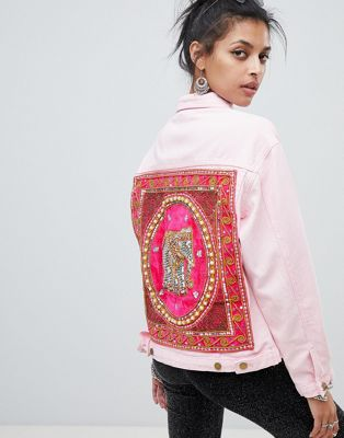 Elsie & Fred denim jacket with elephant back patch