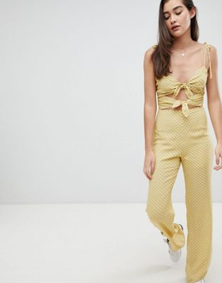 Emory Park jumpsuit with tie front