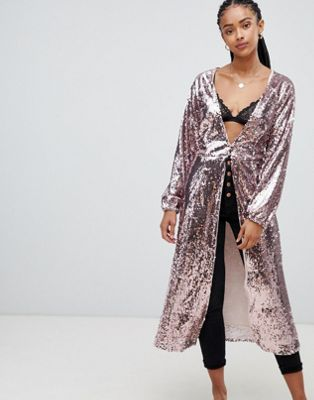 Emory Park maxi top in sequin