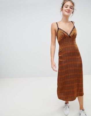 Emory Park midi cami dress in mini check