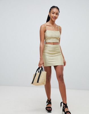 Emory Park mini skirt in sparkle fabric co-ord