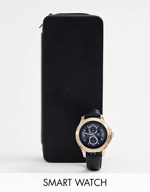 Emporio Armani – ART5012 Alberto – Smartwatch aus Leder