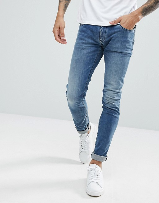 4c005181 Emporio Armani J10 Extra Slim Light Wash Jeans