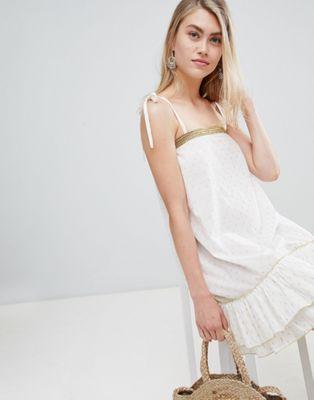 Bild 1 von En Creme – Ärmelloses Minikleid mit Bindebändern an den Schultern