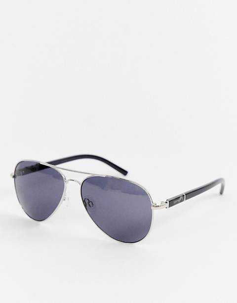 Esprit aviator sunglasses in silver