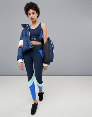 Esprit Colour Block Gym Leggins