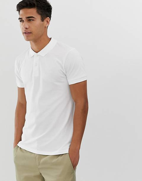 Esprit organic polo shirt in white