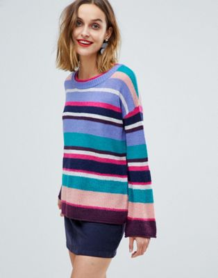 Esprit Oversized Multi Stripe Sweater