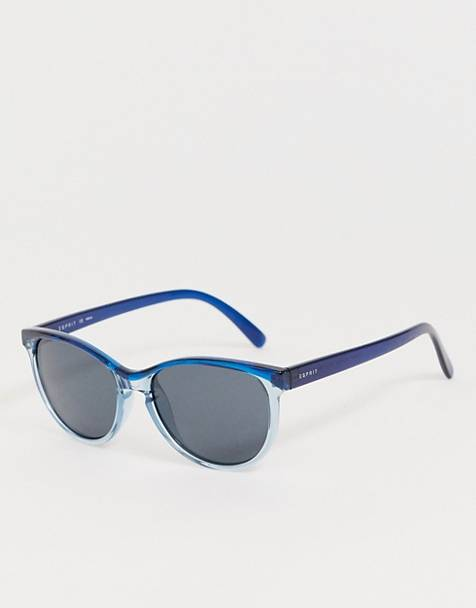 Esprit polarised round sunglasses in blue