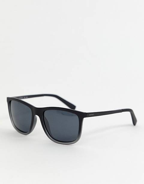 Esprit polarised square sunglasses in black