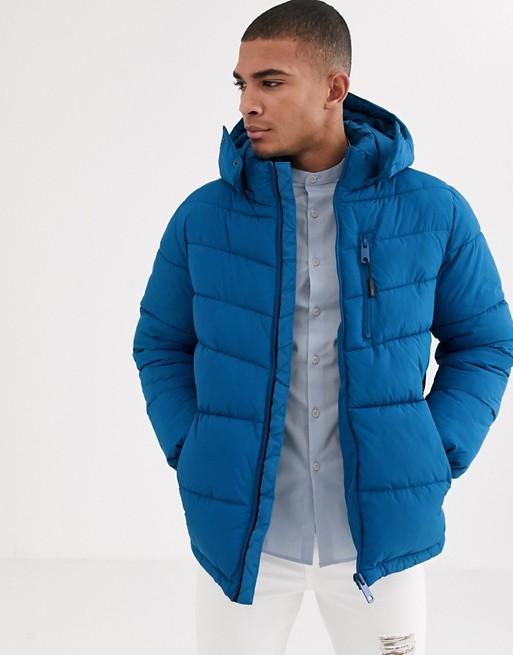 Esprit puffer jacket in bright blue
