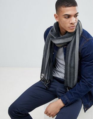 Esprit Scarf In Black Mixed Stripe
