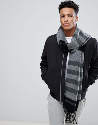 Esprit Scarf In Block Gray Stripe