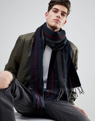Esprit Scarf In Dark Blue Mixed Stripe
