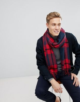Esprit Scarf With Red Check