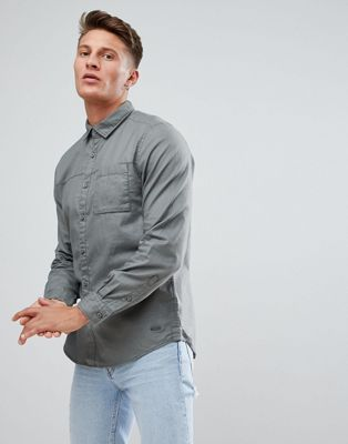 Esprit Shirt With Pocket In Washed Green