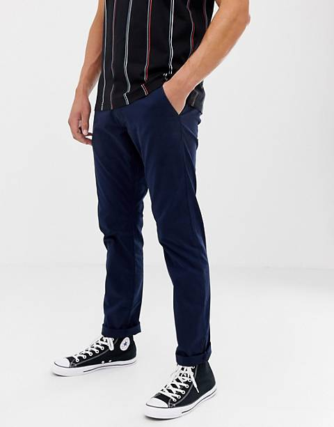 Esprit Slim Fit Chinos In Navy