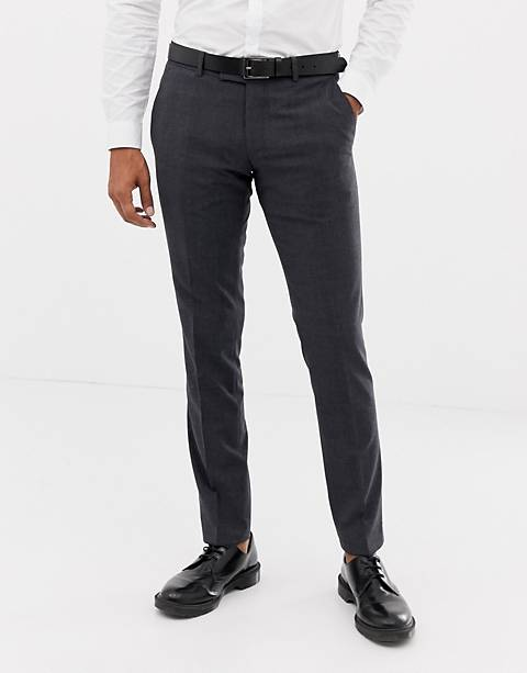 Esprit slim fit commuter suit pants in gray check