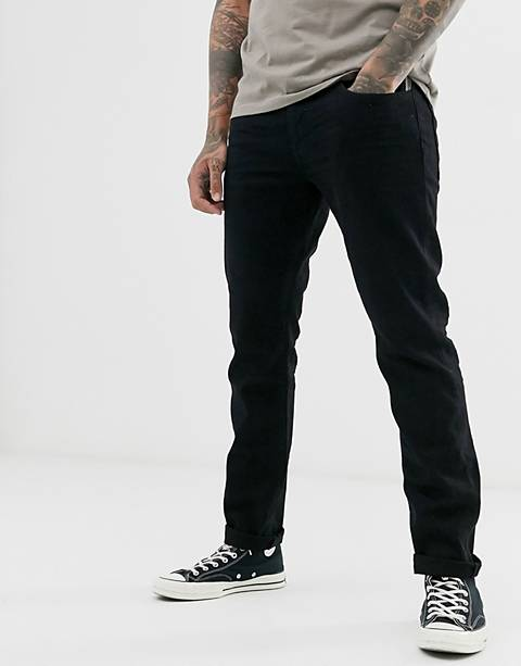 Esprit slim fit jean in black rinse wash