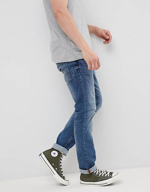 Esprit slim fit jeans in light wash blue
