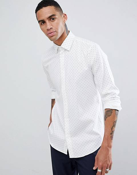 Esprit Slim Fit Smart Shirt With Dot Print