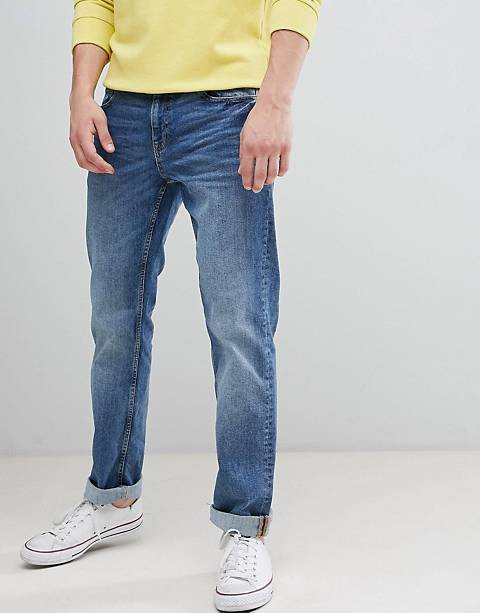 Esprit straight fit jeans in light wash blue