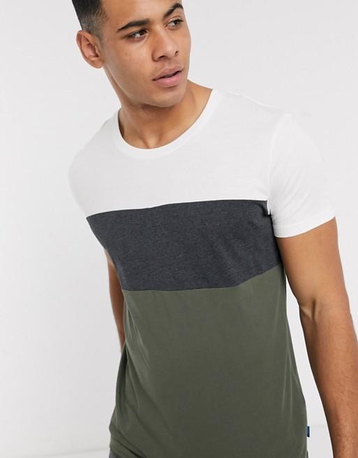 Esprit - T-shirt basic color block multi