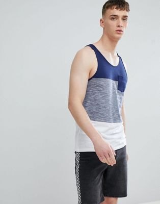 Image 1 of Esprit Tank With Block Stripe In Navy