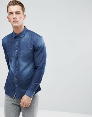 Esprit Washed Denim Shirt
