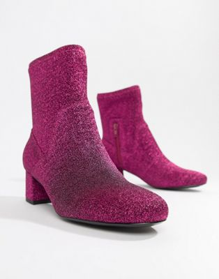 Essentiel Antwerp pink glitter boot
