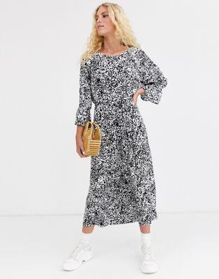 Essentiel Antwerp Timbera printed wide midi dress