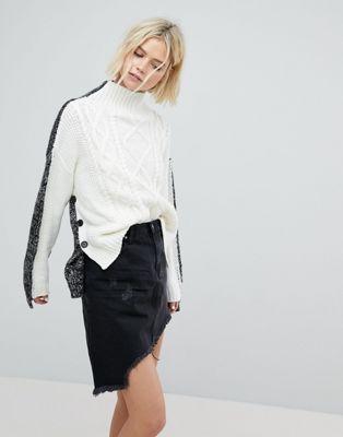 EVIDNT - Pull en tricot torsadé