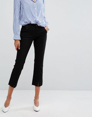 Image 1 of EVIDNT Split Detail Crop Jeans