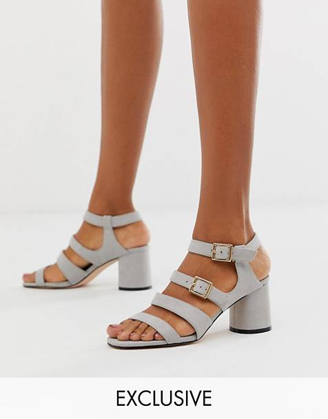 Faith Exclusive buckle block heeled sandals