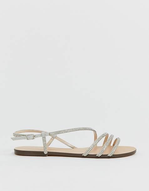 6ef37be314ba3 Sandales plates | Spartiates, sandales en cuir et sandales dorées | ASOS