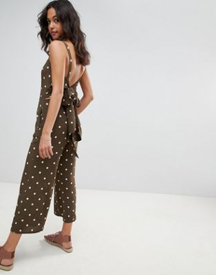 Faithfull playa jumpsuit in polka dot