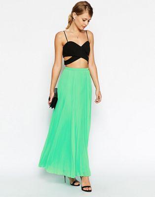 Imagen 1 de Falda larga plisada de ASOS