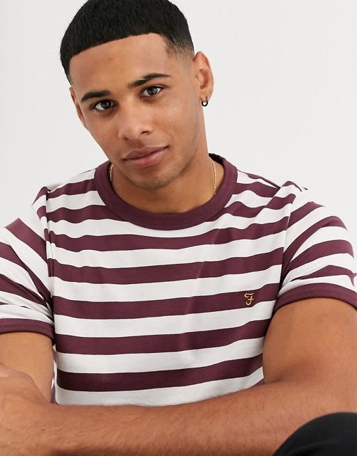 Farah - Belgrove - T-shirt con logo a righe rosse