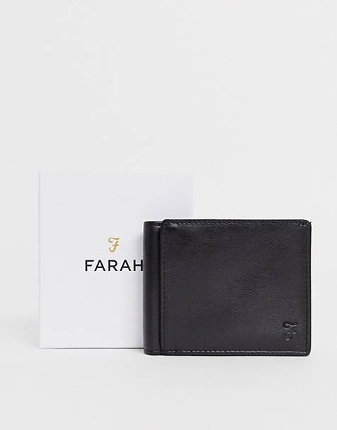 Farah cody roma bi fold with embossed in black