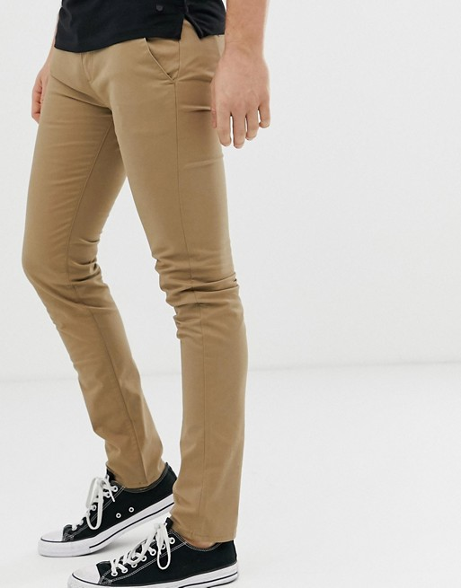 Image 1 of Farah Drake chino twill pants in beige