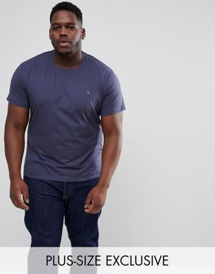 Farah PLUS Farris Slim Fit T-Shirt in Navy