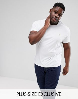 Farah PLUS Farris Slim Fit T-Shirt in White