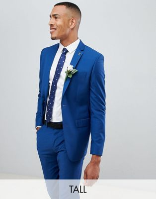 Image 1 of Farah skinny fit suit jacket in blue