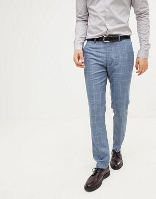 Farah skinny smart pant in check texture