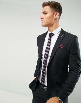 Image 1 of Farah Skinny Suit Jacket In Black