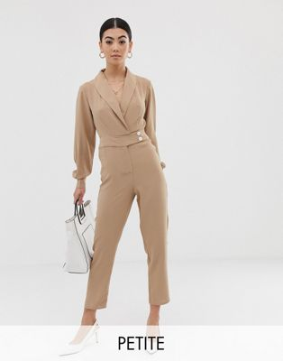 Bild 1 av Fashion Union – Petite –Jumpsuit i smokingstil