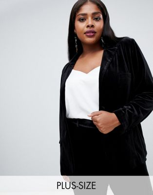 Fashion Union Plus velvet blazer two-piece